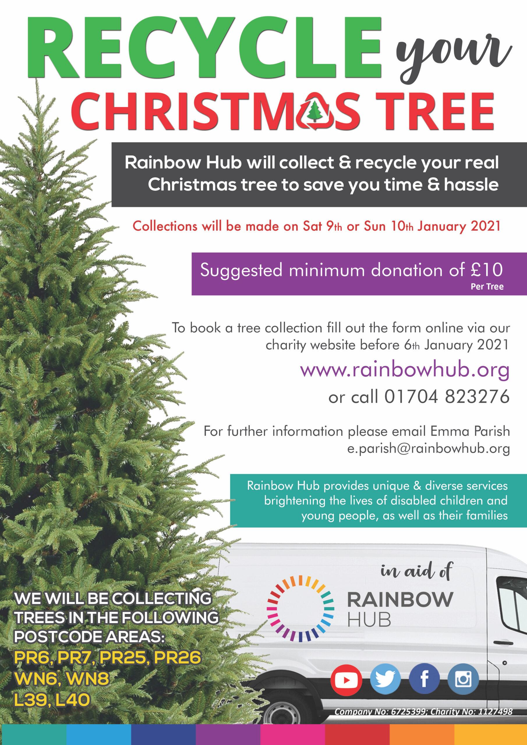 The Rainbow Hub Christmas tree collection fund raiser